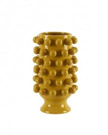 Grapes Vase Yellow Ceramic