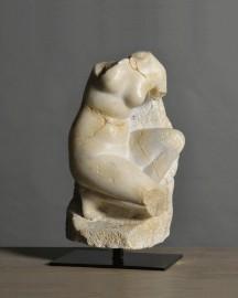 Fragment Visage d'Apollon sur Socle - H 65 cm