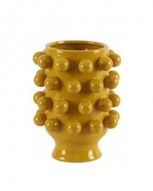 Vase Grappes Céramique Jaune H25cm