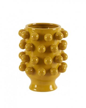 Grapes Vase Yellow Ceramic H25cm