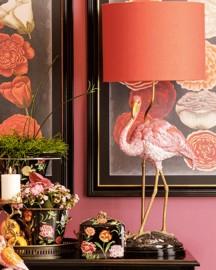 Lampe Flamant Rose Céramique H72cm