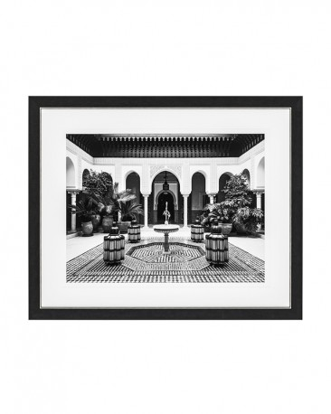 Typical Moroccan Courtyard Print 109cm