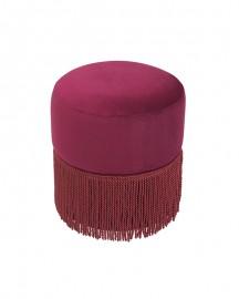 Pink Marshmallow Velvet Stool