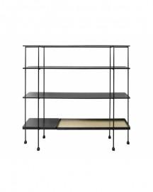 Modular Black and Metal Shelves Connor H160 cm