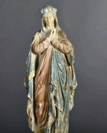 Vierge Marie - Moulage H 31 cm