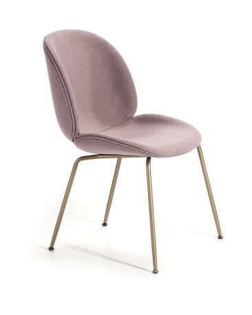 Dining Chair in Lilac Fabric