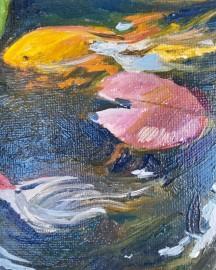 Huile sur toile - Etude au Bassin N°5 - 24x33 cm