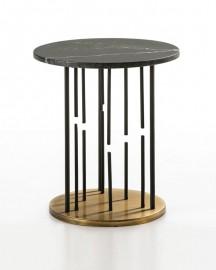Black Marble Pedestal Table