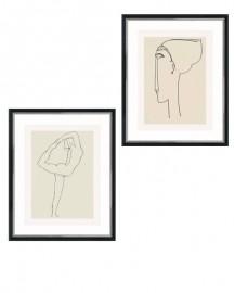 Gravures Rodin et Modigliani -  Duo Femmes - 40x50cm