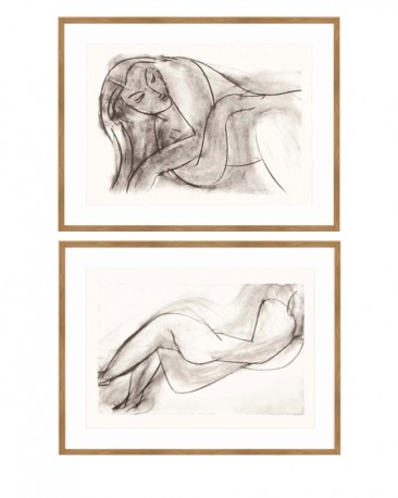 Nude Lithographs by Matisse Set of 2