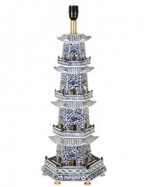 Hexagonal Pagoda Table Lamp