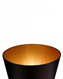 Black Enamelled Ceramic Lamp H110 cm