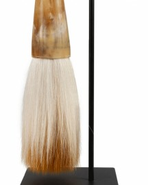 Large Calligraphy Brush Suspended, Horn, H60cm