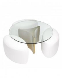 Table Basse Ronde Avalon Design 70s
