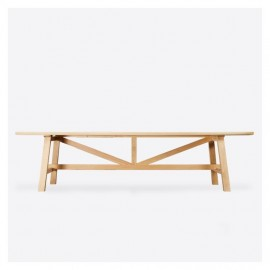 Solid Oak Workshop Table