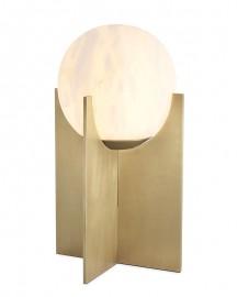 Lampe de table Rise - Albâtre et Laiton  H41cm