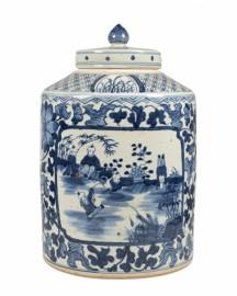 Enamelled Ceramic Box Cover H44cm