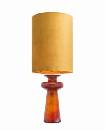 Orange Enamel Ceramic Lamp H117cm