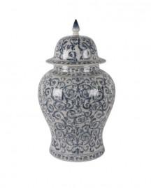 Jarre Céramique Chinoise Bleue et Blanche H54cm