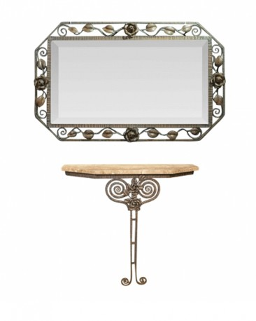 Wall Console and Mirror from 1930