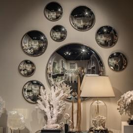 Ensemble de 4 miroirs ronds à perle à l'antique