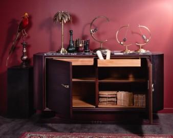 Buffet de style Henri II Noir Mat