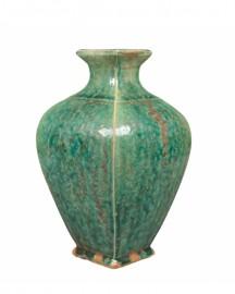 Vase Ethnique Céramique Turquoise H26cm