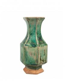 Vase Ethnique Céramique Turquoise H28cm
