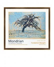 """""""L'arbre Bleu"""" Engraving Mondrian 1908"""