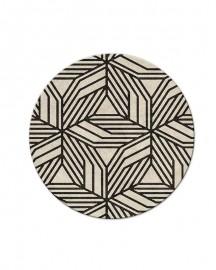 Contemporary Round Rug Origami