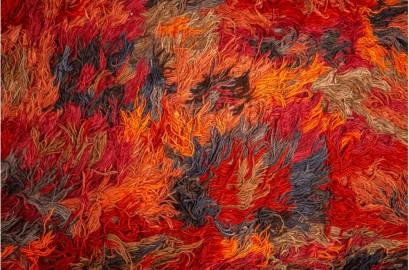 Hand-woven rug red ocher 300x400 cm