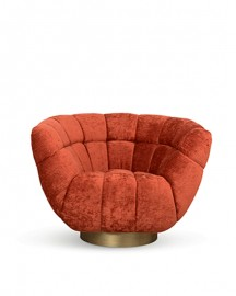 Fauteuil Pivotant Gina, Style Art Deco