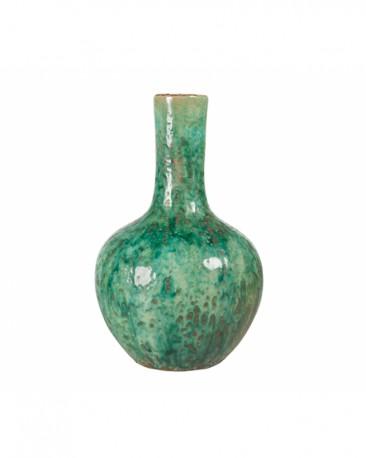 Turquoise Ceramic Vase H32cm