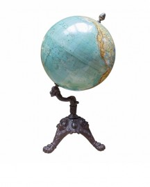 Pink Earth Globe On Cross Stand, 12 inches