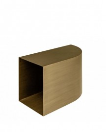Coffee Table Bronze Metal Laugh L60cm