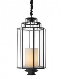 Black Metal Lantern Myrtle H83cm