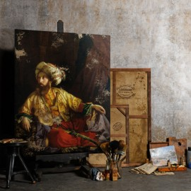 The Emir, Orientalist Canvas - Jozsef Borsos