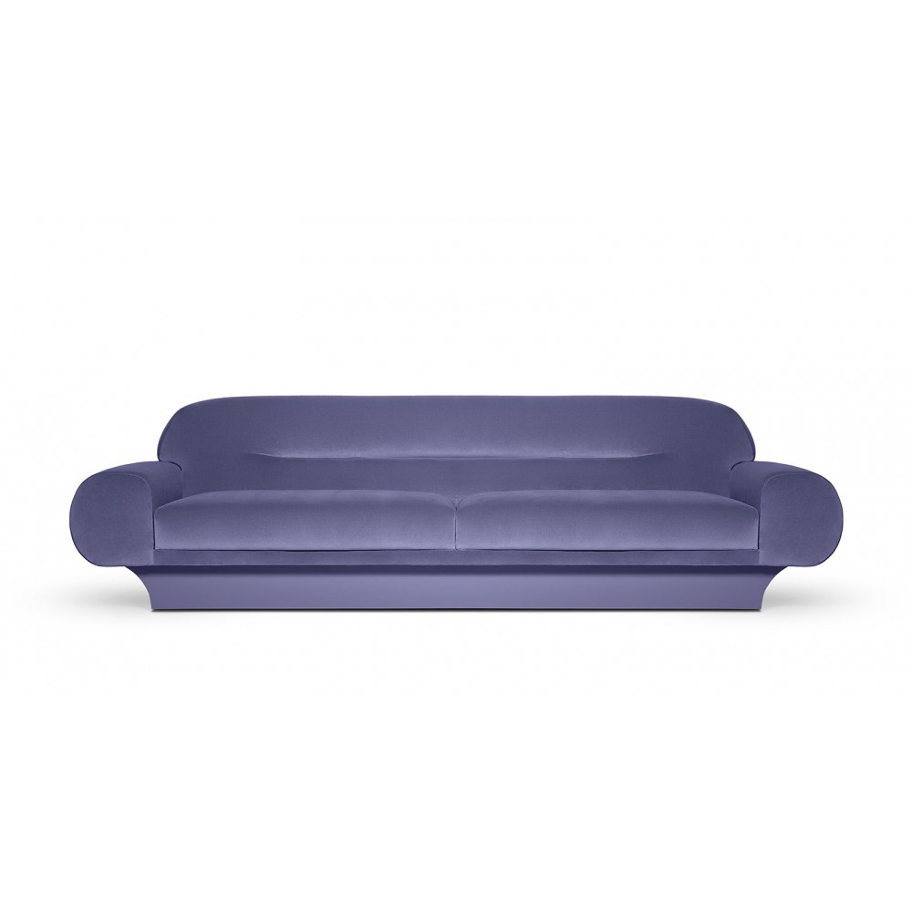 The Spoke sofa, magnificent and curvy, Made on Order