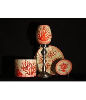 Objets déco en verre décorés à la main, réalisation artisanale, Italie