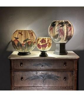 Lampes en verre décorés à la main, réalisation artisanale, Italie