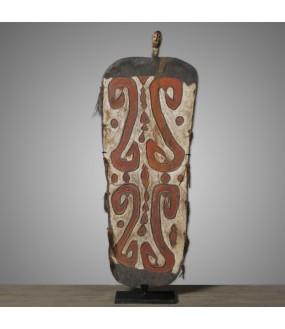 Bouclier Ethnique Bois  Papouasie - 181cm