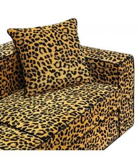 Canapé Sofa Wilde, Leopard Fabric L200