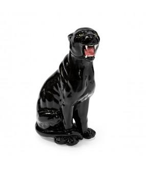Statue Céramique Panthère Noire - H 83 cm