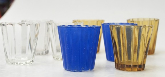 50s fluted glasses