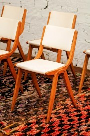 Six vintage chairs 50's