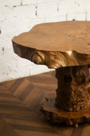 Rare table in elm from the 70s