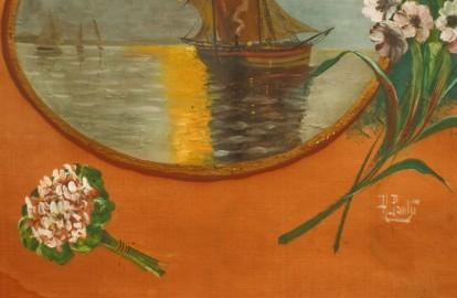 Painting on silk, 1920s