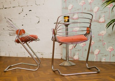 Vintage chairs and table 60s