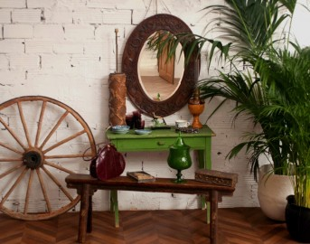 Oval Sculpted Mirror