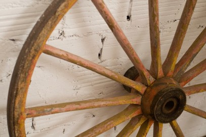 Two Old Wheel of Carts
